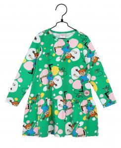 Pippi Klänning Gröna Bubblor ekologisk bomull