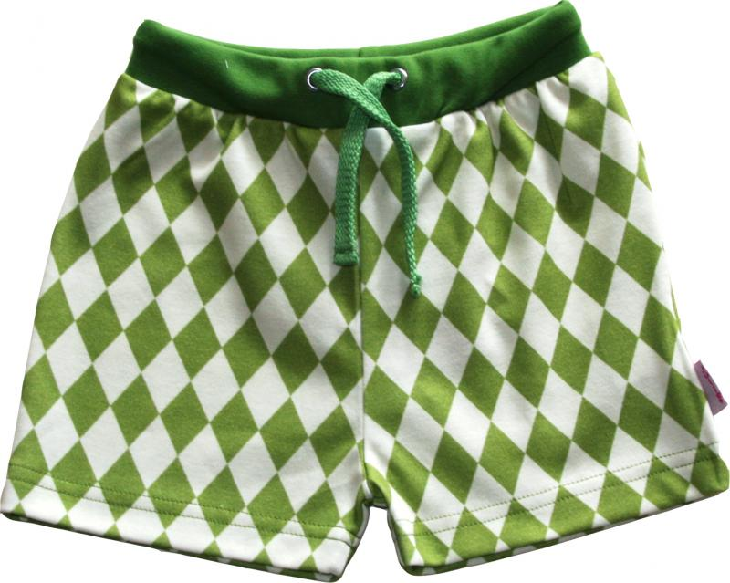 Harlekin Grön Shorts OEKO-TEX-bomull.