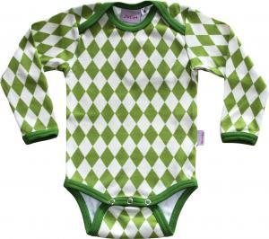 Harlekin Grön Body OEKO-TEX-bomull.