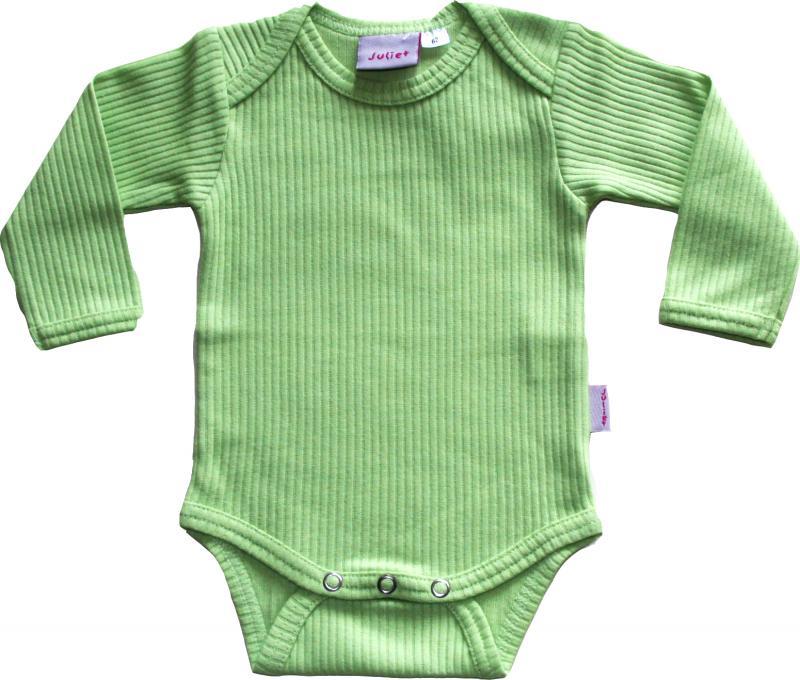 Enfärgad Grön Body OEKO-TEX-bomull.