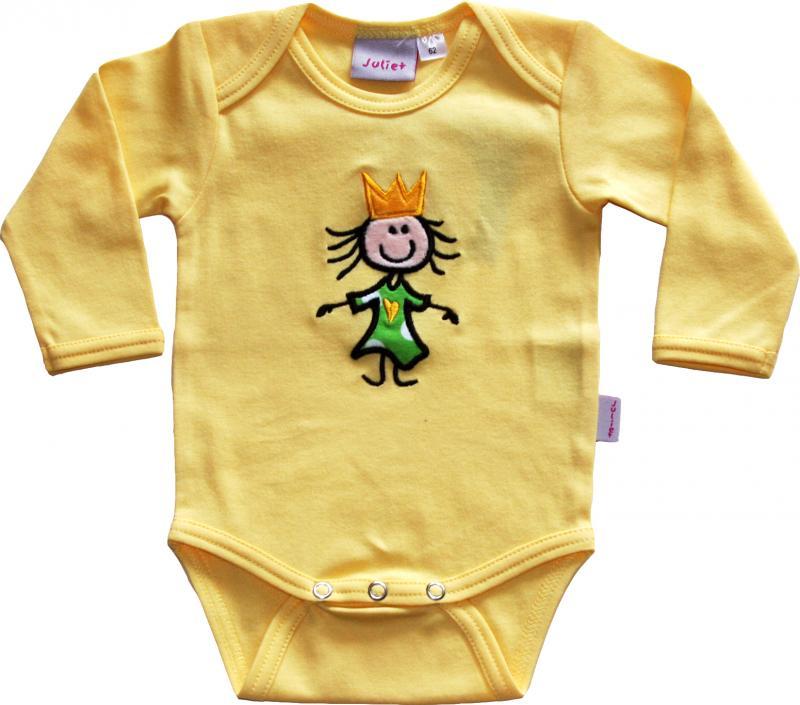 Prinsess Body Gul med Prinsesskläder i Grönt/vita prickar OEKO-TEX-bomull