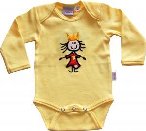 Prinsess Body Gul med Prinsesskläder i Rött/vita prickar OEKO-TEX-bomull