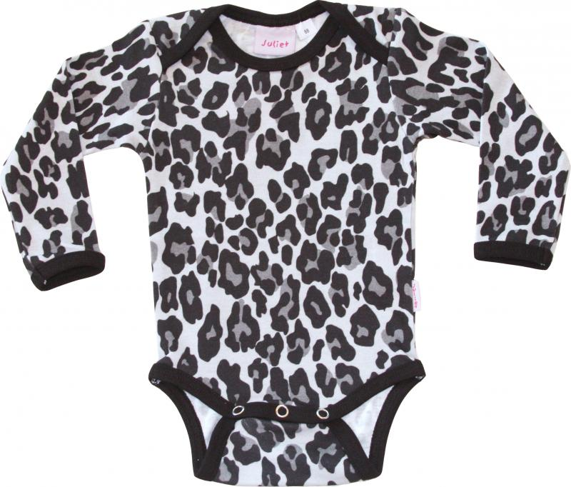 Leopard Svart Body i OEKO-TEX