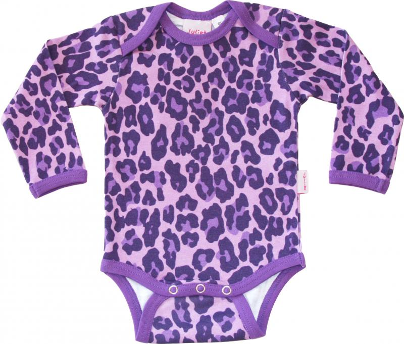 Leopard Lila Body i OEKO-TEX