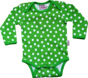 Body Grön/vita prickar i silkeslen OEKO-TEX