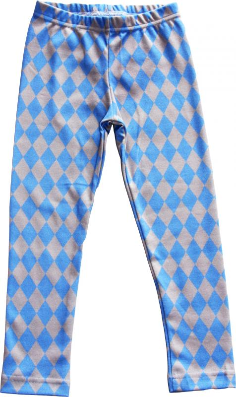 Harlekin Blå Leggings slimfit OEKO-TEX-bomull.