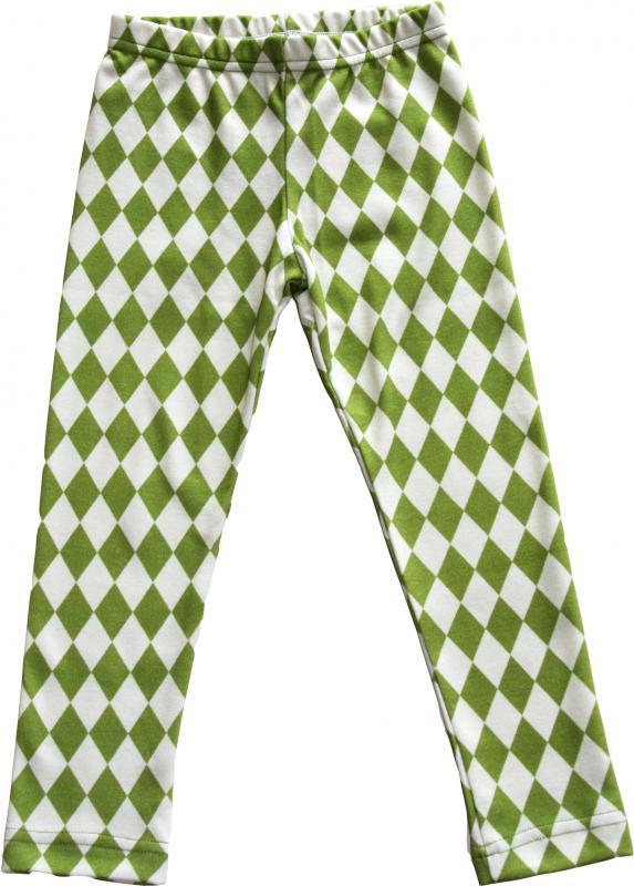 Harlekin Grön Leggings slimfit OEKO-TEX-bomull.