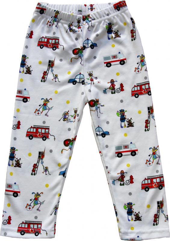 Leggings Emergency Vehicles i OEKO-TEX-bomull