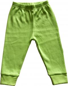 Enfärgad Grön byxa OEKO-TEX-bomull.