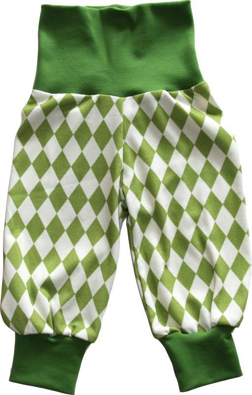 Harlekin Grön Babybyxa OEKO-TEX-bomull.