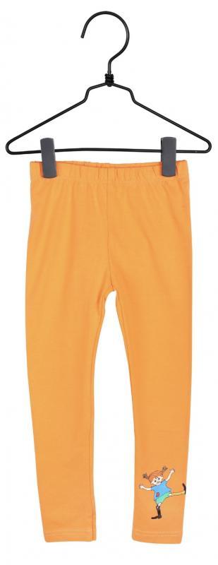Pippi Leggings Orange i GOTS bomull