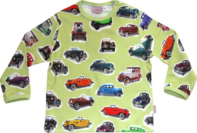 Tröja Lång ärm GreenCars i silkeslen OEKO-TEX bomull