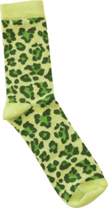 Leopard Grön Dam-socka