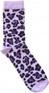 Leopard Lila Dam-socka