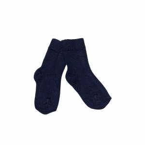 Socka Marinblå i ekologisk Cashmere-ull/Modal