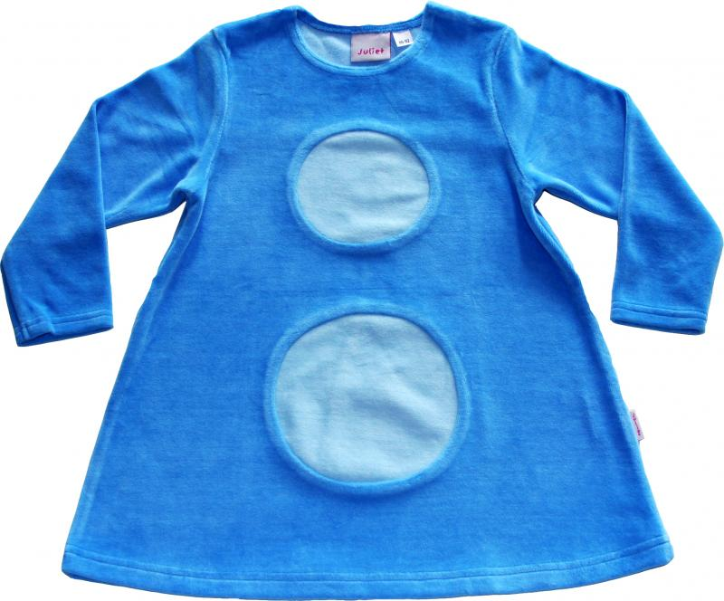 Bollklänning Blå/ljusblåa bollar OEKO-TEX-velour