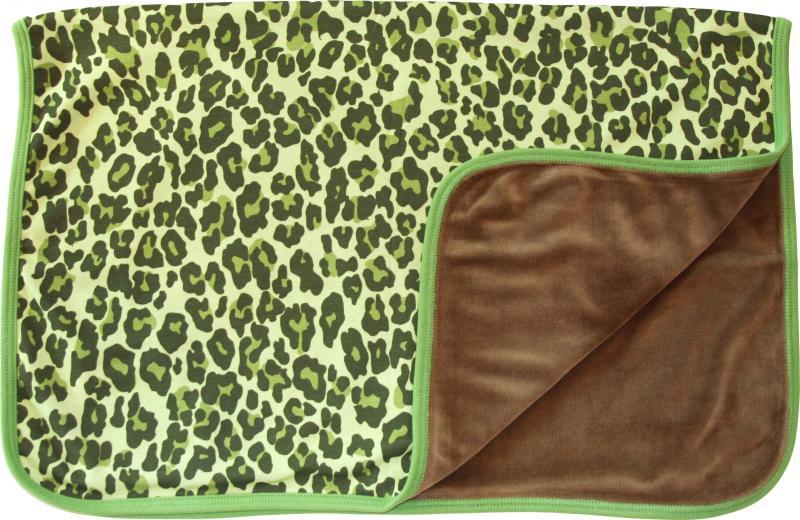 Leopard Grön Filt i OEKO-TEX