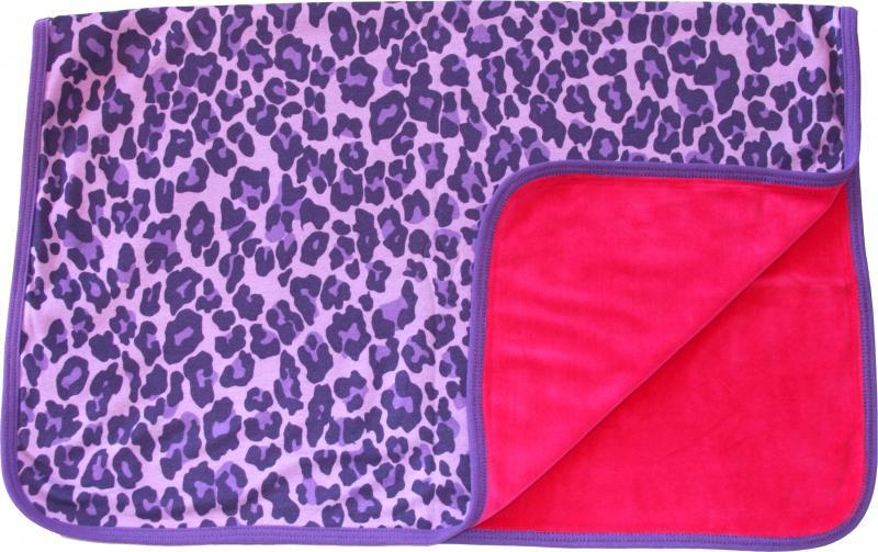 Leopard Lila Filt i OEKO-TEX