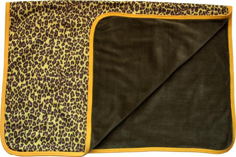Leopard Kexchoklad Filt i OEKO-TEX
