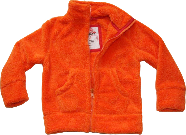 Fleece-jacka Orange