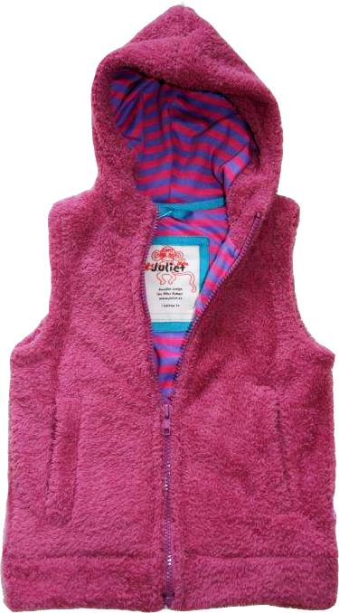 Fleece-Väst Vintage pink