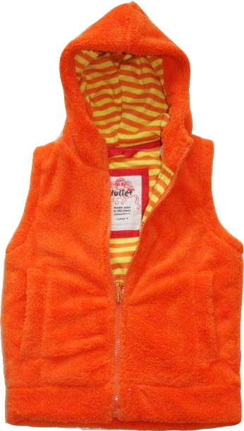 Fleece-Väst Orange