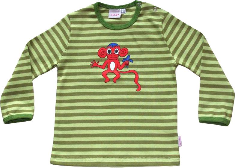 Randig Ap-tröja Olivgrön/ljusgröna ränder OEKO-TEX