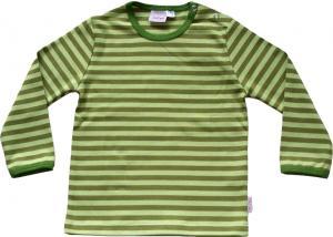 Randig tröja Olivgrön/ljusgröna ränder i GOTS