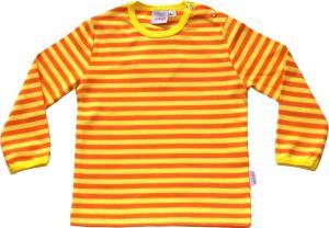 Randig tröja Gul/orange ränder i GOTS