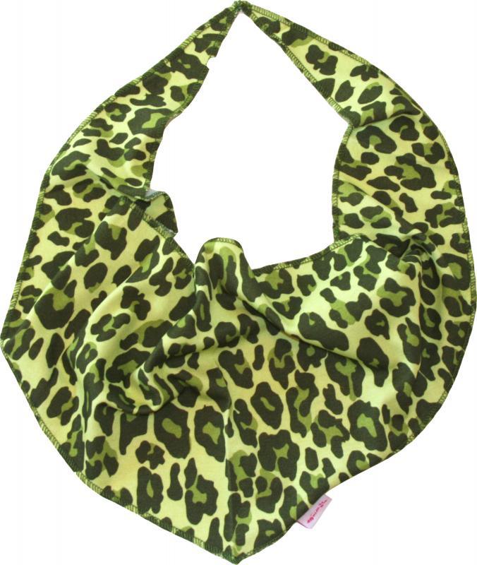 Leopard Grön Halsduk/Bib i OEKO-TEX
