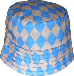 Harlekin Blå Solhatt OEKO-TEX-bomull