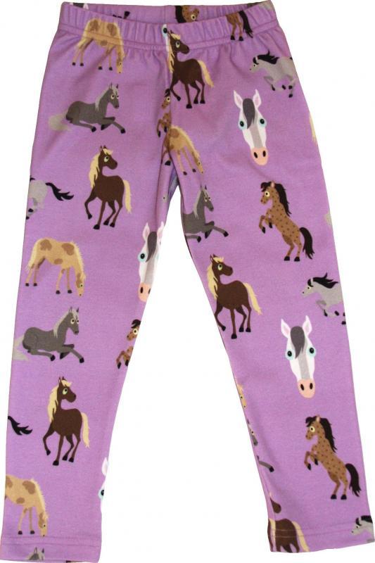Leggings slimfit Horses i silkeslen OEKO-TEX-bomull