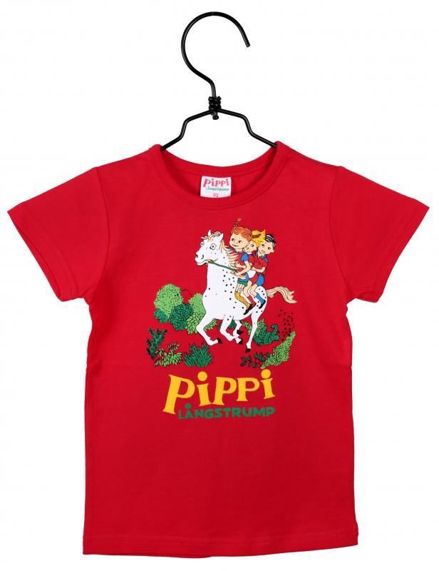 Pippi Tröja Röd i GOTS bomull