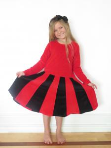 Juliet-klänning Röd/svart OEKO-TEX
