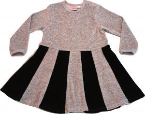 Juliet-klänning Grå/svart i velour OEKO-TEX