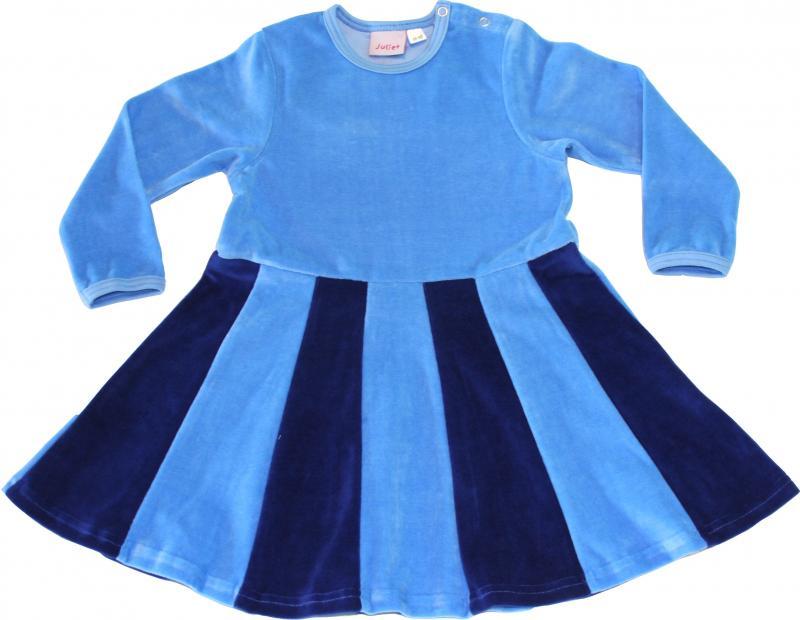 Juliet-klänning Skyblue/kornblå i velour OEKO-TEX