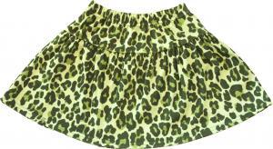 Leopard Grön Kjol i OEKO-TEX