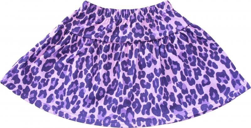 Leopard Lila Kjol i OEKO-TEX