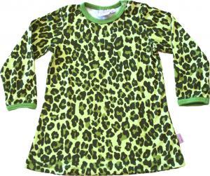 Leopard Grön Klänning i OEKO-TEX