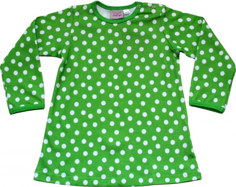 Klänning Grön/vita prickar i OEKO-TEX