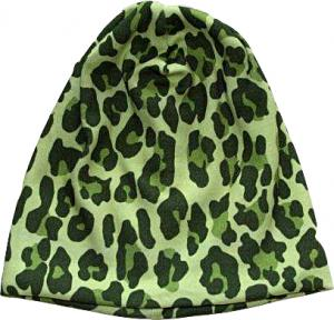 Leopard Grön Mössa i OEKO-TEX