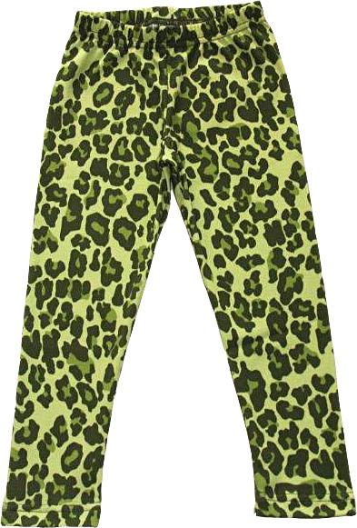 Leopard Grön Leggings Slimfit i OEKO-TEX