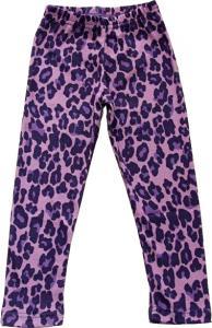 Leopard Lila Leggings Slimfit i OEKO-TEX