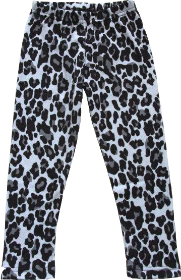 Leopard Svart Leggings Slimfit i OEKO-TEX