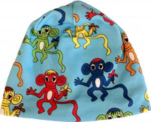 Mössa Monkey Blue i OEKO-TEX bomull