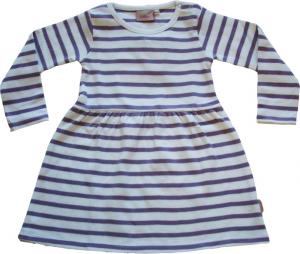 Randig klänning Vit/lila ränder GOTS
