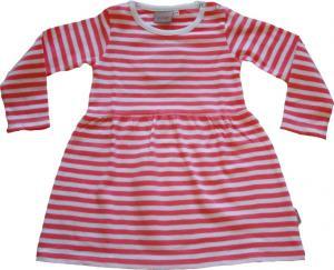 Randig klänning Vit/rosa ränder GOTS