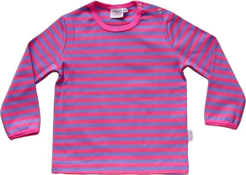 Randig tröja Lila/rosa ränder i GOTS
