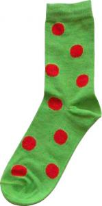 Damsocka Grön/röda bollar