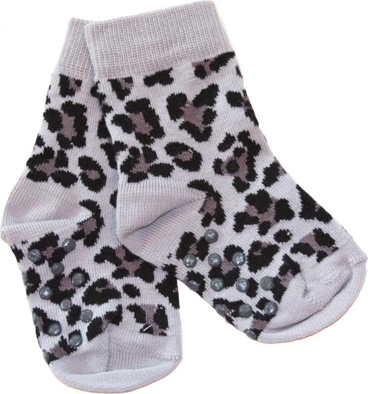 Leopard Svart Socka